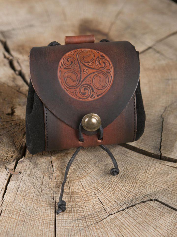 5ea493e4ec0b Petit sac de ceinture en cuir, motif