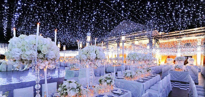 idée de décoration de salle mariage hiver