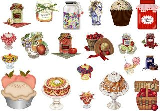 Varieté de Láminas para Decoupage: Para el té...