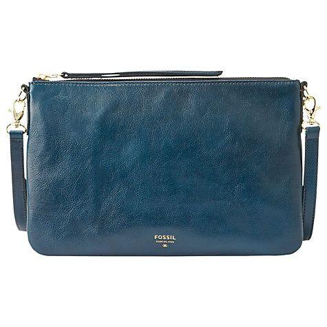 Buy Fossil Sydney Small Travel Across Body Leather Handbag Online at johnlewis.com