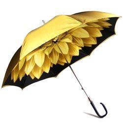 Pasotti Italian Umbrella - Gold Dahlia Flower Umbrellas