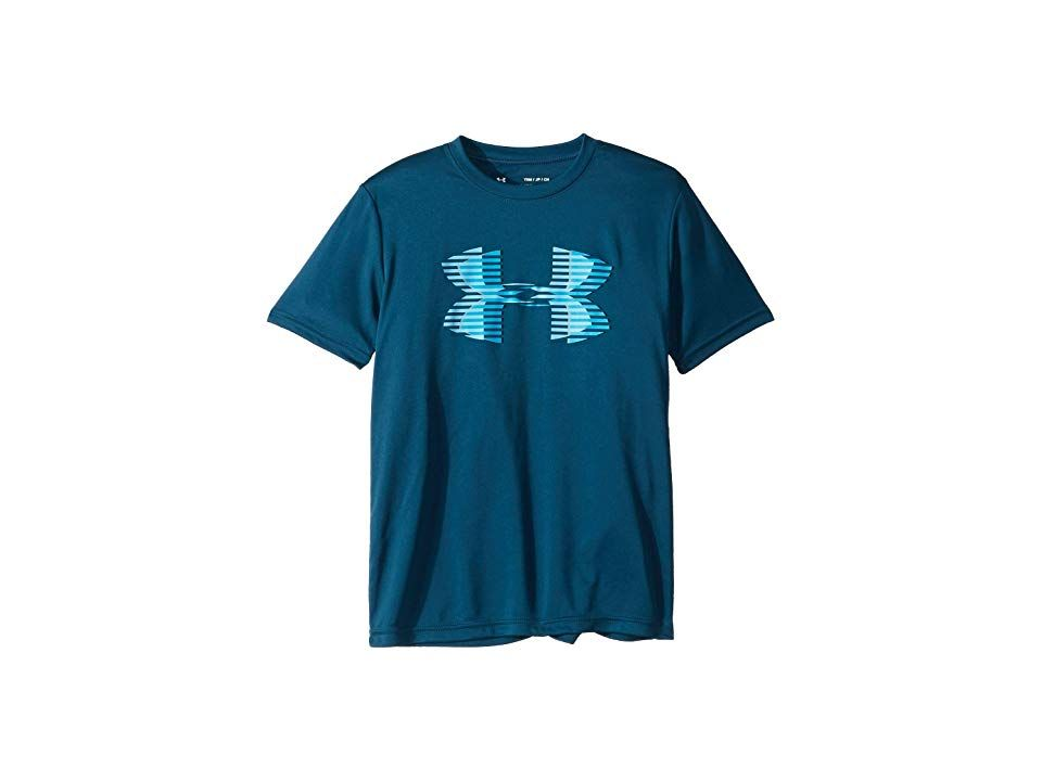 518e8111e7 Under Armour Kids Tech Big Logo Solid Tee (Big Kids) (Techno Teal ...