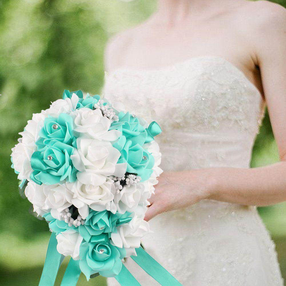 Amazon Ourwarm Teardrop Style Crystal Roses Pearl Bridal