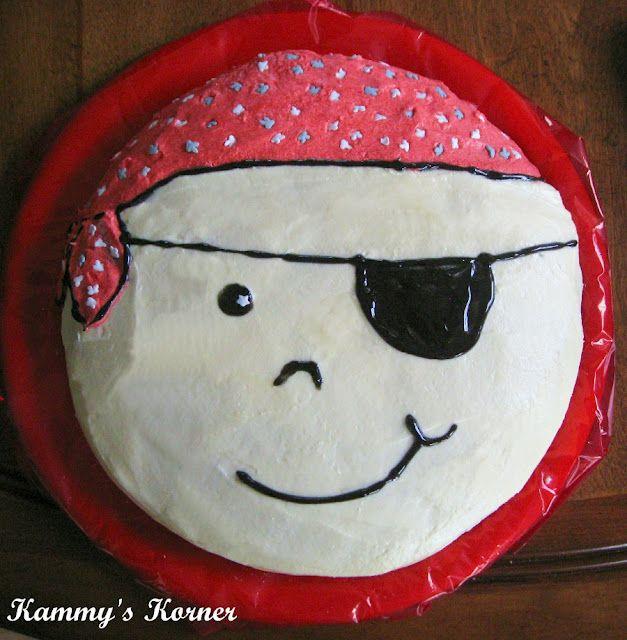 Kammys Korner Easy Pirate Face Birthday Cake Birthdays Showers