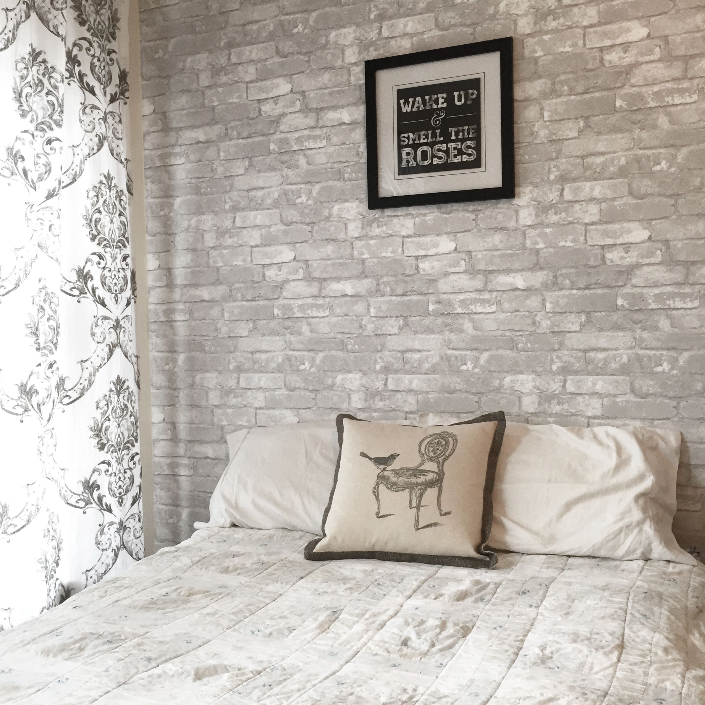 Video White Brick Feature Wall Brewster Home Feature Wall Bedroom Brick Wallpaper Bedroom Wallpaper Bedroom Feature Wall