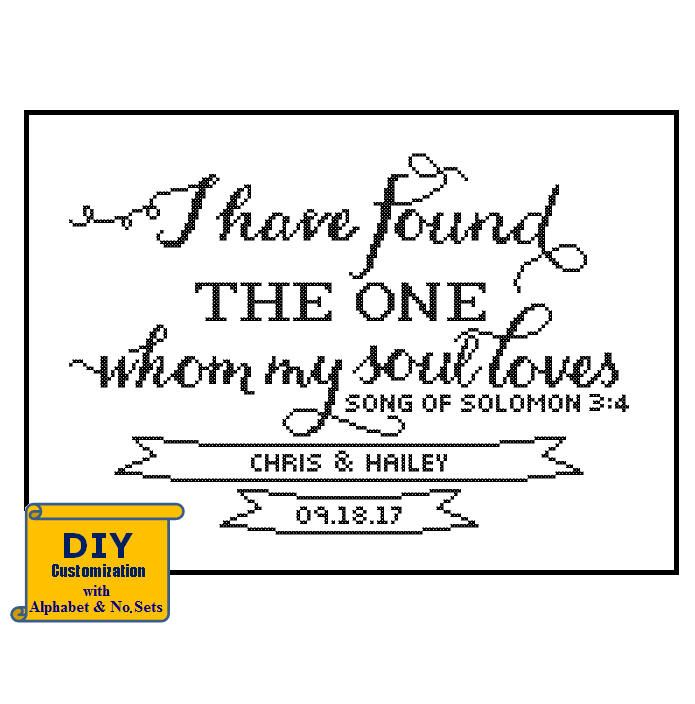 Song of Solomon cross stitch I have found the one DIY customizable ...