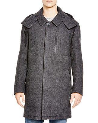 Marc New York Boulevard Wool Blend Herringbone Coat | Bloomingdale's