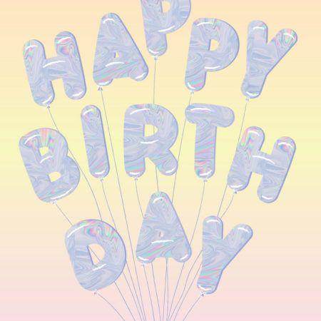 Iridescent birthday balloons by Lucinda Kidney for A Fresh Bunch - fresh blueprint awards winners