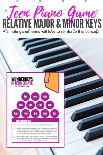 This Piano Game Reinforces Relative Minors Of 6 Major Keys Piano Games Piano Teaching Games Piano Teaching Resources