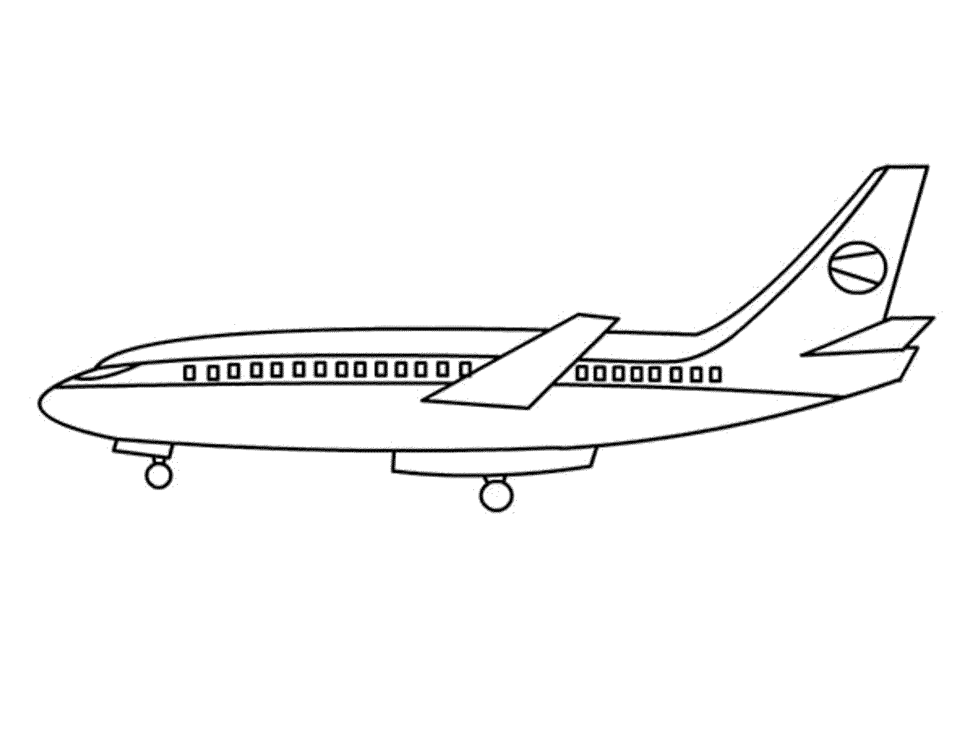 Big airplane coloring 2000 1510 coloring for Airplane coloring pages to print for free
