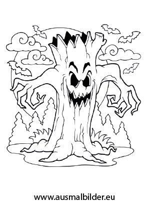 Gruselige Halloween Ausmalbilder Zum Ausdrucken 06 Diy