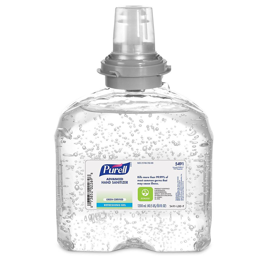 Purell Tfx Instant Hand Sanitizer Gel Refill 1200ml Hand