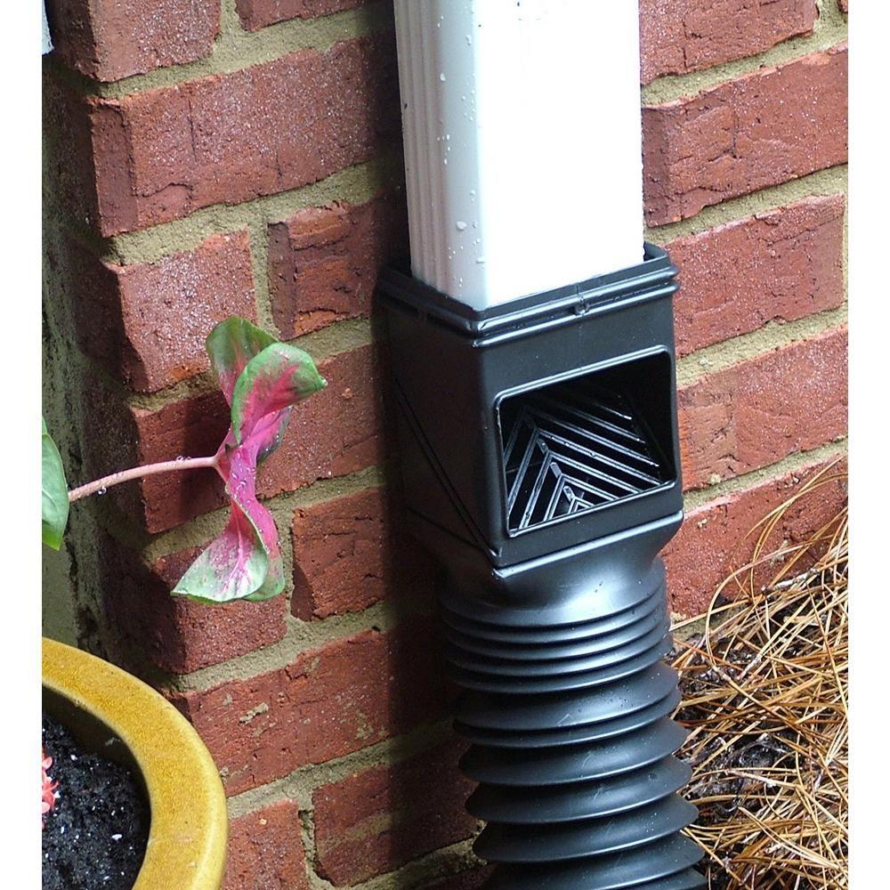Invisaflow Flex Grate Downspout Filter 4400 The Home Depot Downspout Downspout Diverter Gutter Drainage