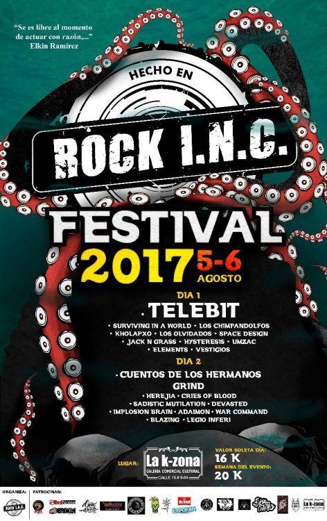 EL ROCK INC FESTIVAL LLEGA EN AGOSTO