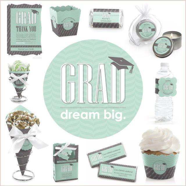 Graduation Party Theme Ideas: Mint and Grey theme #Graduation
