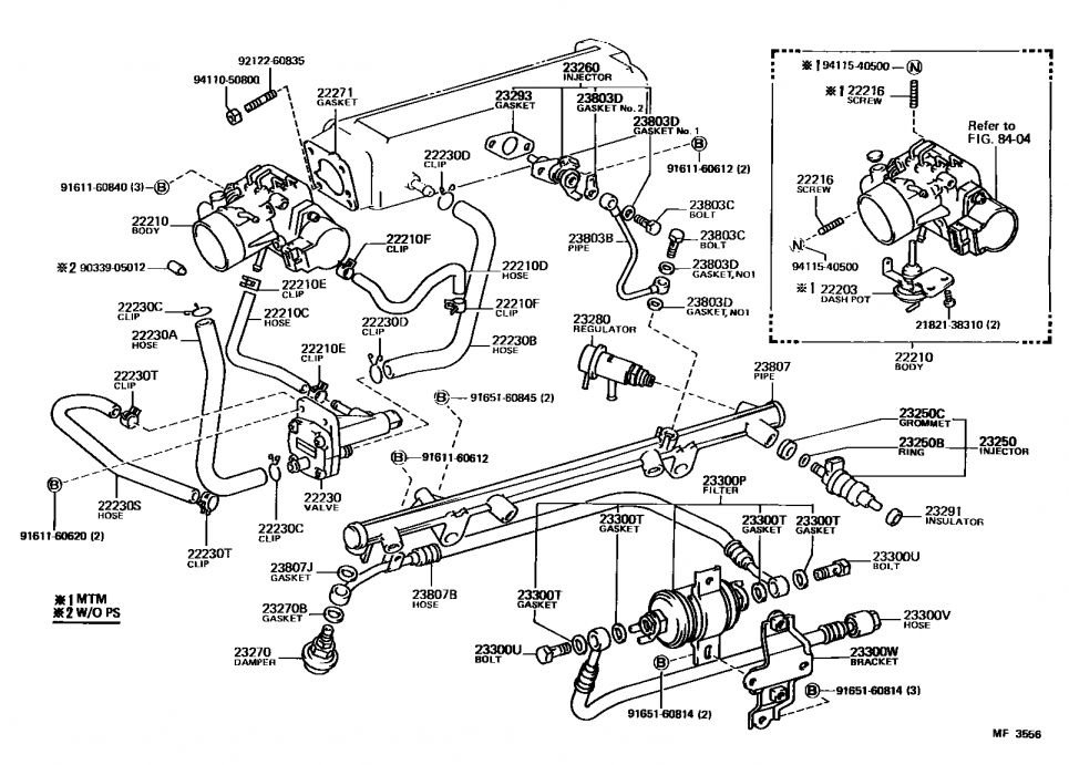 Toyota 22Re Engine Wiring Diagram and Re Engine Parts
