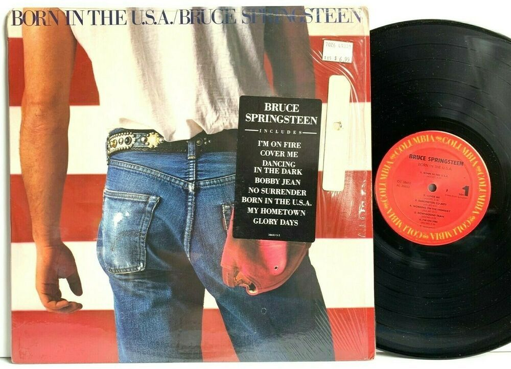 Bruce Springsteen Born In The U S A In Shrink Hype Lp Vinyl Record Album Usa Vinyl Records Vinylrecor Bruce Springsteen Vinyl Records Vinyl Record Album