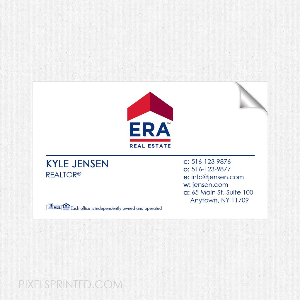 Era Business Card Sticker Era Real Estate Business Card Sticker