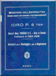 Piaggio P.6 Ter  Aircraft  Maintenance Manual, Istruzione Montaggio e Regolazione ( Italian Language )