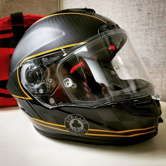 c942be86 Got my very first brand new #bell helmet for our trip down to Deals Gap  later this year. It matches Stella percectly! #bellracestar #carbonfiber # revzilla ...