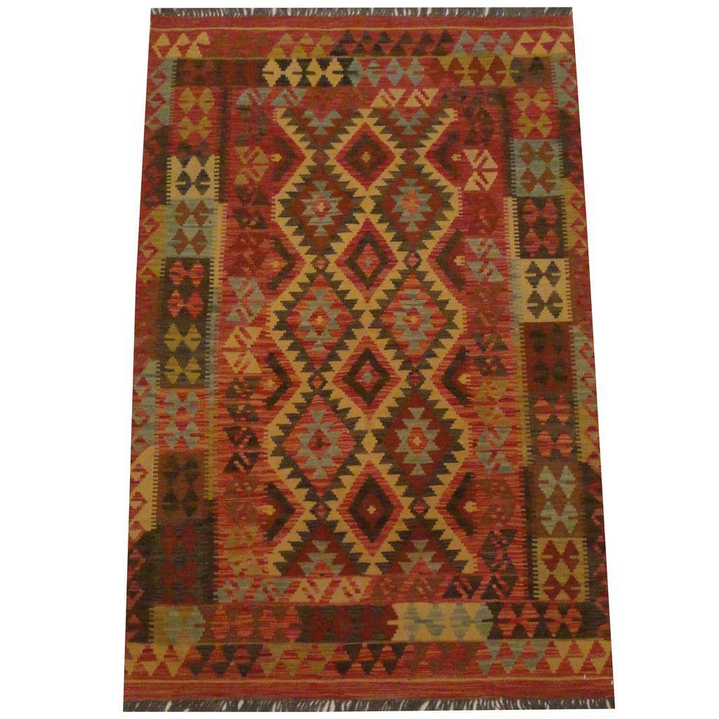 Herat Oriental Afghan Hand-woven Tribal Kilim