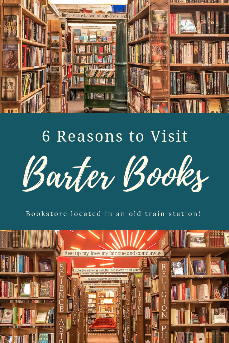 One of the most unique bookstores in the world - Barter Books in Alnwick, England. Housed in an old train station, this indepdent bookshop has thousands of titles across all genres. #bookshop #bookshopporn #thingstodoinalnwick