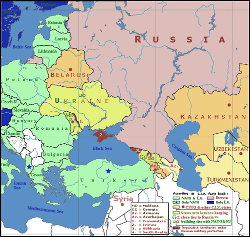 map of ukraine and russia and europe Geopolitical Map Of Crimea Ukraine Russia And Europe Map