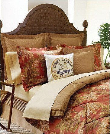 Tommy Bahama Home Orange Cay King Comforter Only New By Tommy