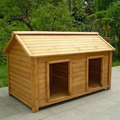 How To Build A Large Duplex Dog House Wooden Dog House Double
