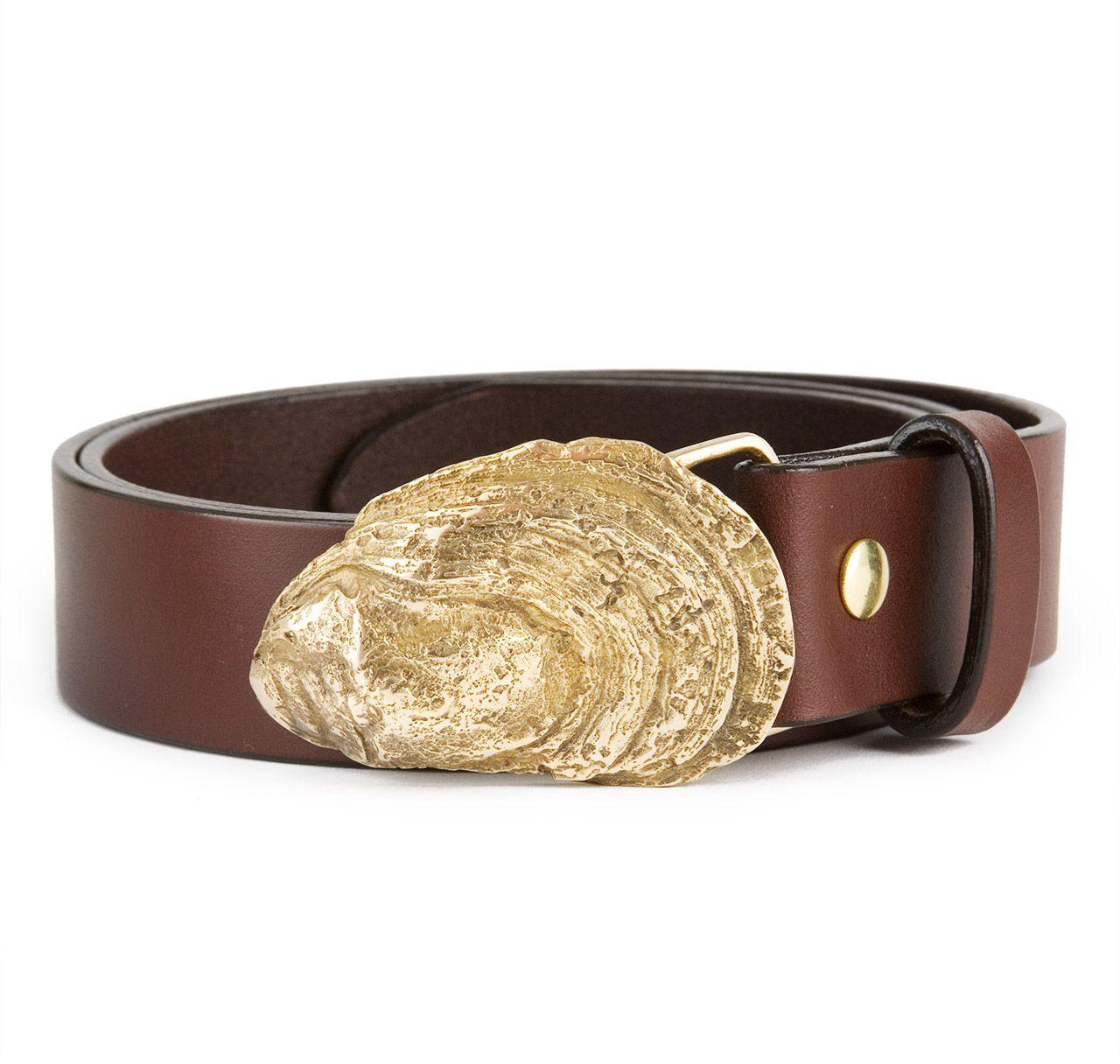 Oyster Belt Buckle in Brass
