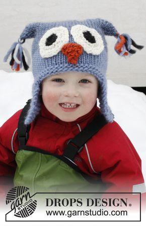 Gestrickte Drops Eulen Mütze In Eskimo Mit Ohrenklappen Größe 2 12
