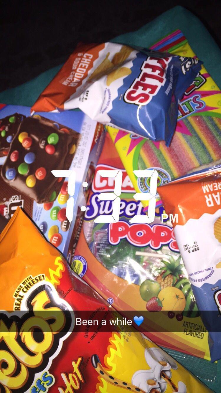 Pinterest 0kaii Junk Food Snacks Sleepover Food Food