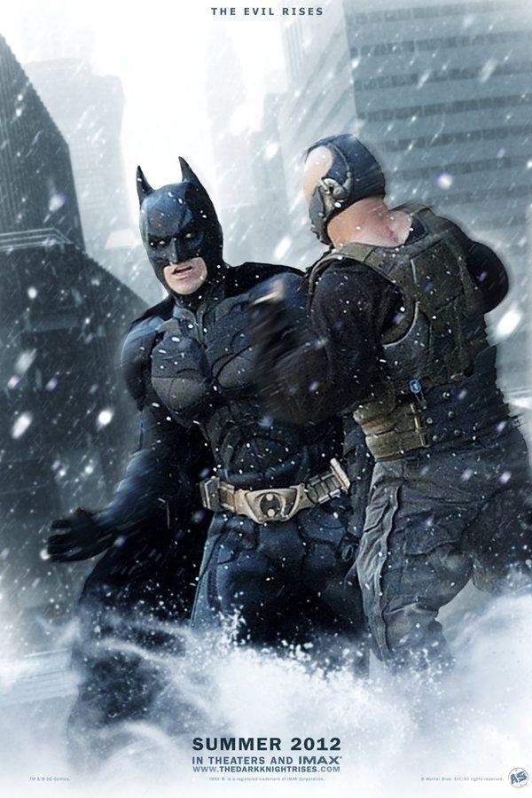 Tdkr Batman Vs Bane Poster By Andrewss7 Mit Bildern