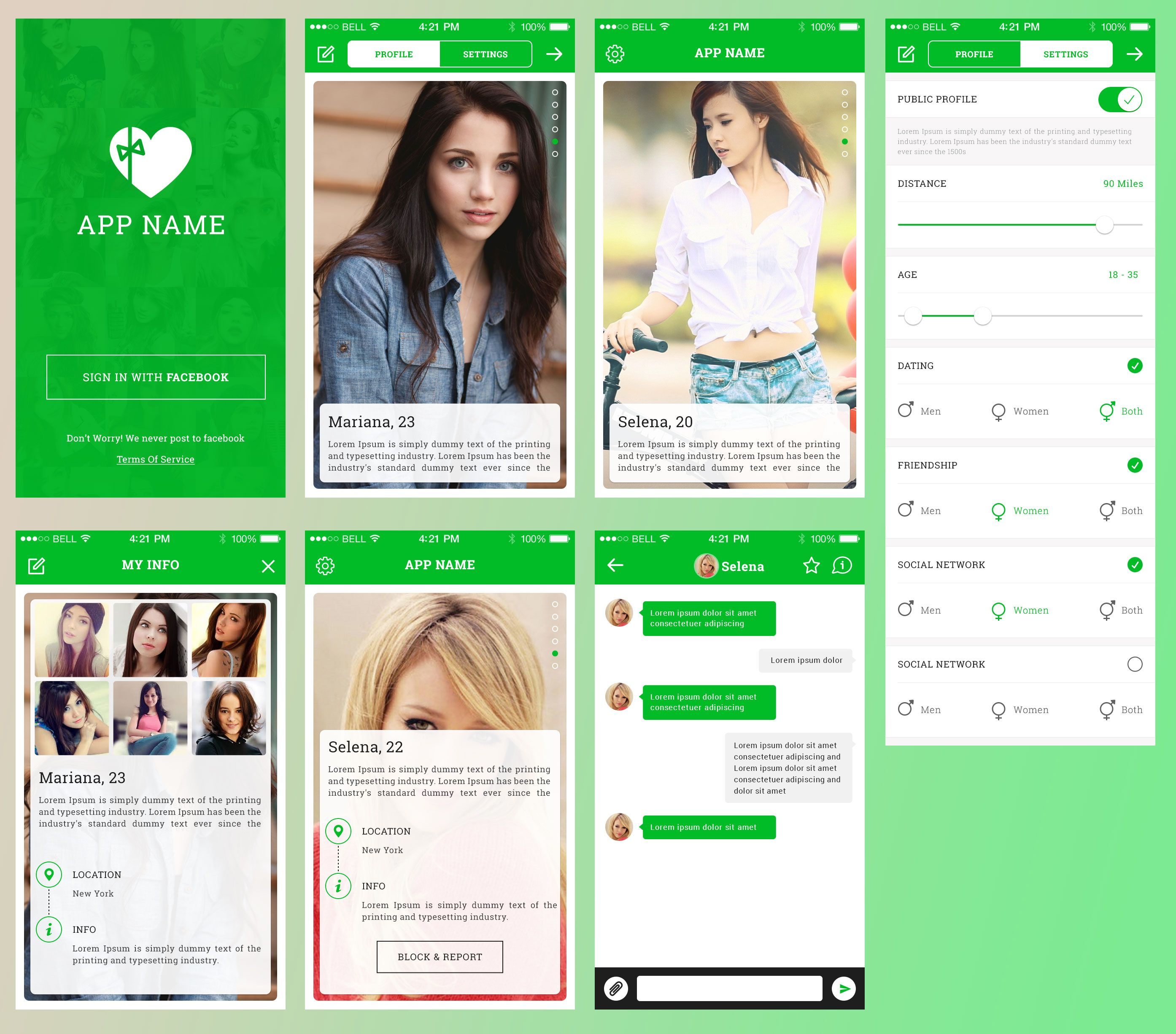 Dating app template