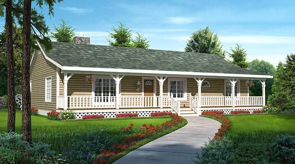 Country Ranch Traditional House Plan 20227 Traditional House