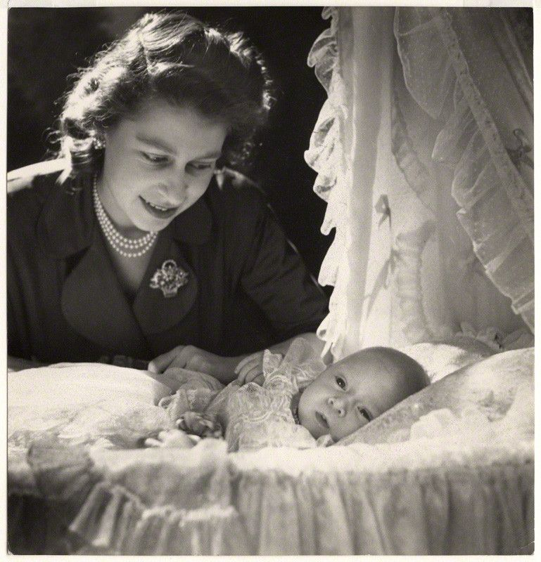 Princess Elizabeth and Prince Charles by Cecil Beaton, Buckingham Palace, December 1948