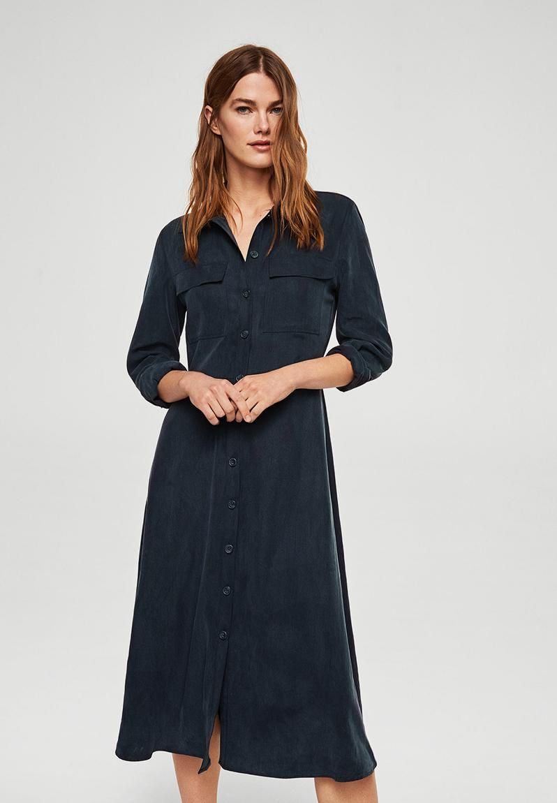 49cb74ed80a Buttoned Shirt Dress Navy