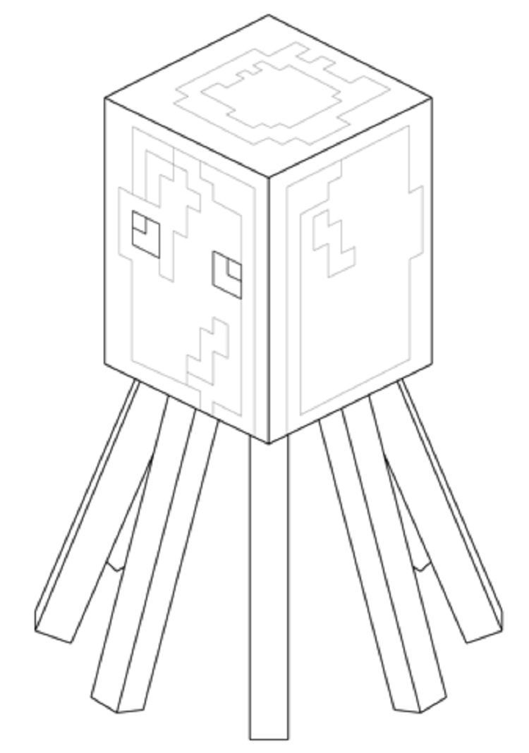 Minecraft Coloring Pages Squid Minecraft Coloring Pages Coloring Pages Minecraft [ 1068 x 750 Pixel ]