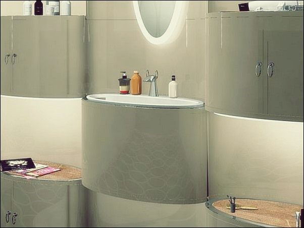Abgehangter Badezimmerschrank Mit Turen Bad Deko Bad Deko Badezimmereinrichtung Badezimmer Innenausstattung
