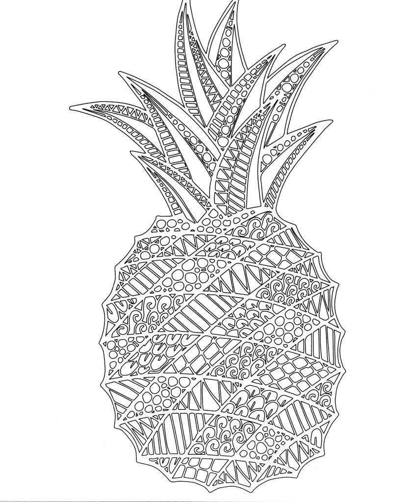 Printable Pineapple Coloring Pages For Kids Coloring Pages