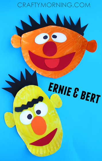 Ernie and Bert Paper Plate Crafts for Kids (Sesame street art project) | CraftyMorning.com  sc 1 st  Pinterest : sesame street paper plates - Pezcame.Com
