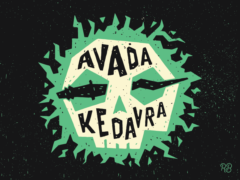 Avada Kedavra By Zach Rupert Dribbble Dribbble Harry Potter Spells Deathly Hallows Book Harry Potter Audio Books