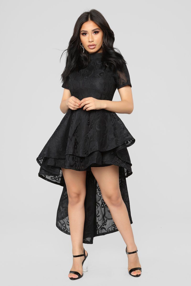 On the verge ruffle dress black clothes pinterest dresses