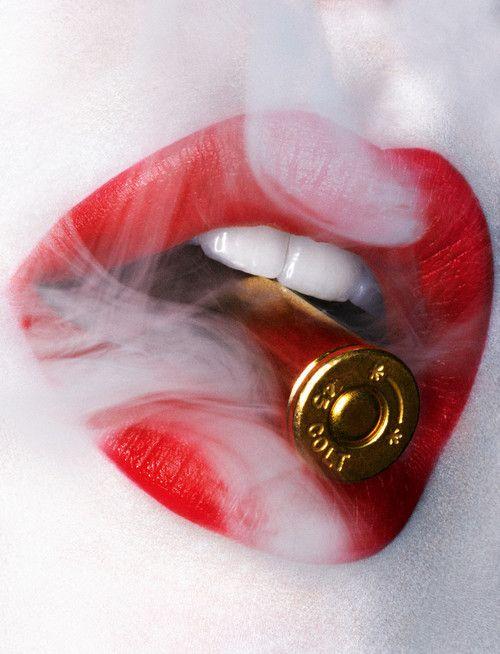 Red Black White Tatuajes De Labios Labios De Mujer Labios