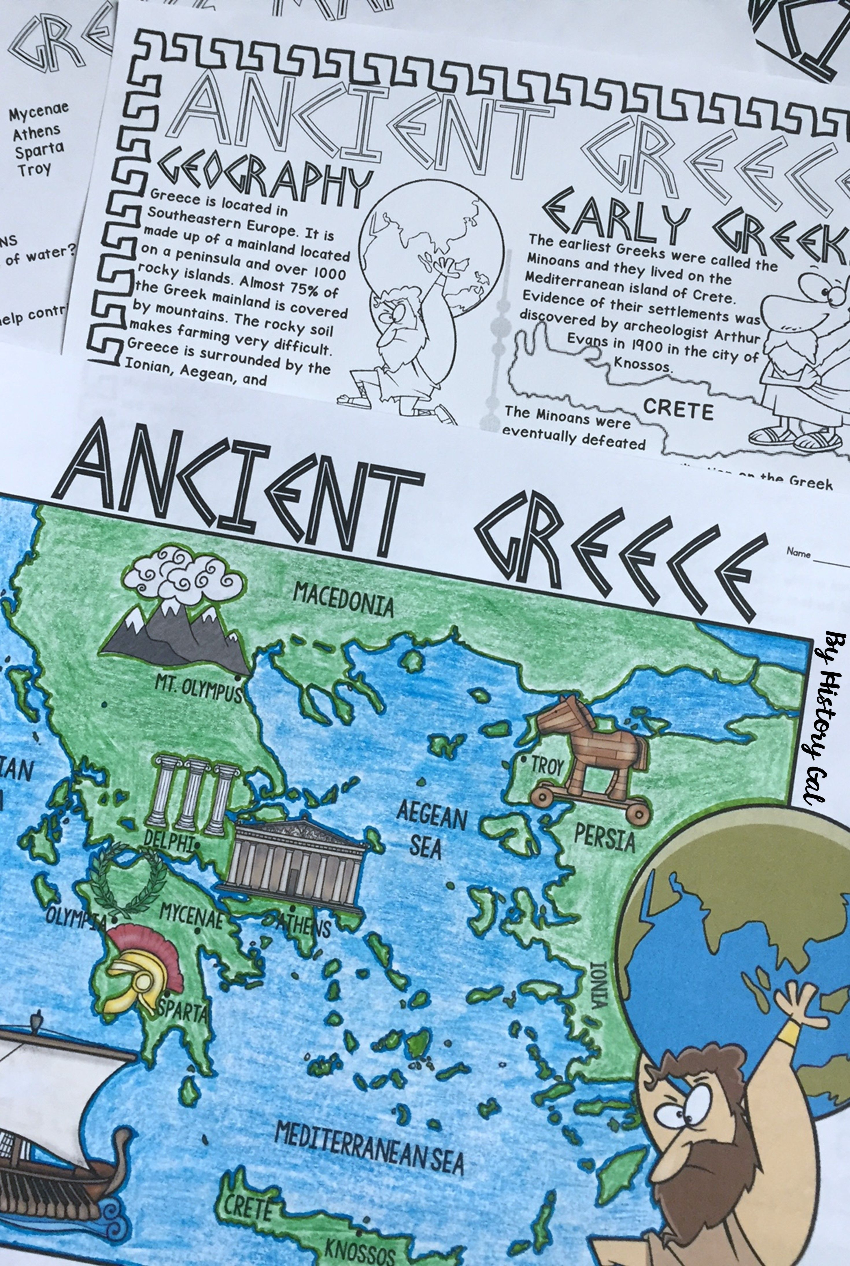 Ancient Greece Map Activity