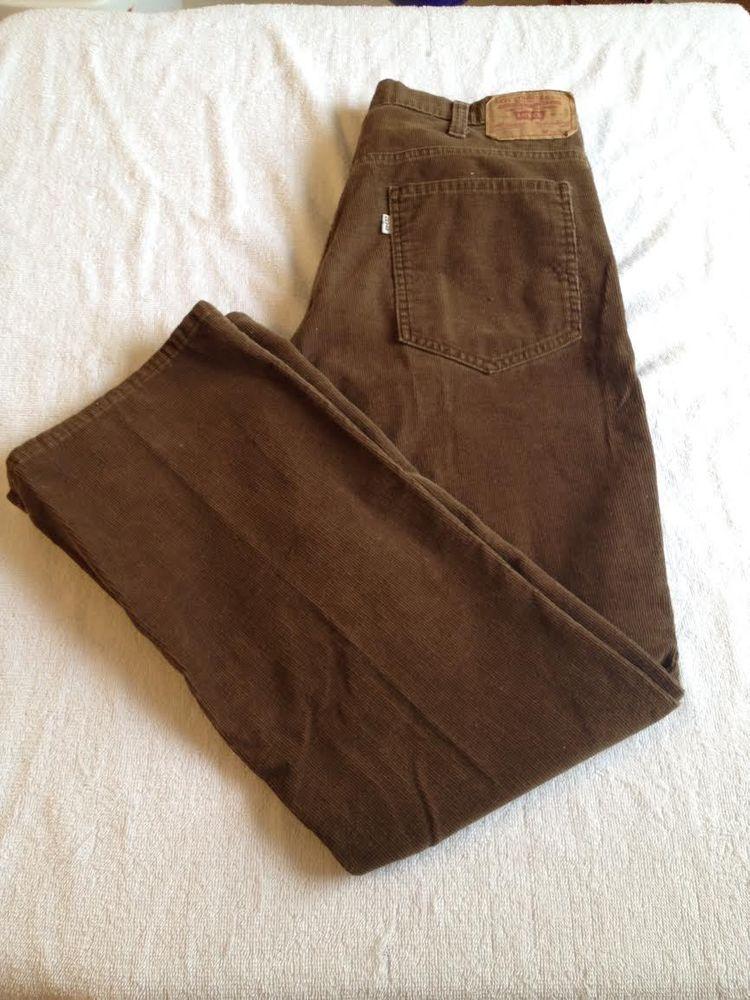 Levi's 517 Vintage Boot Cut 32X29.5 Mens Brown Corduroy Pants ...