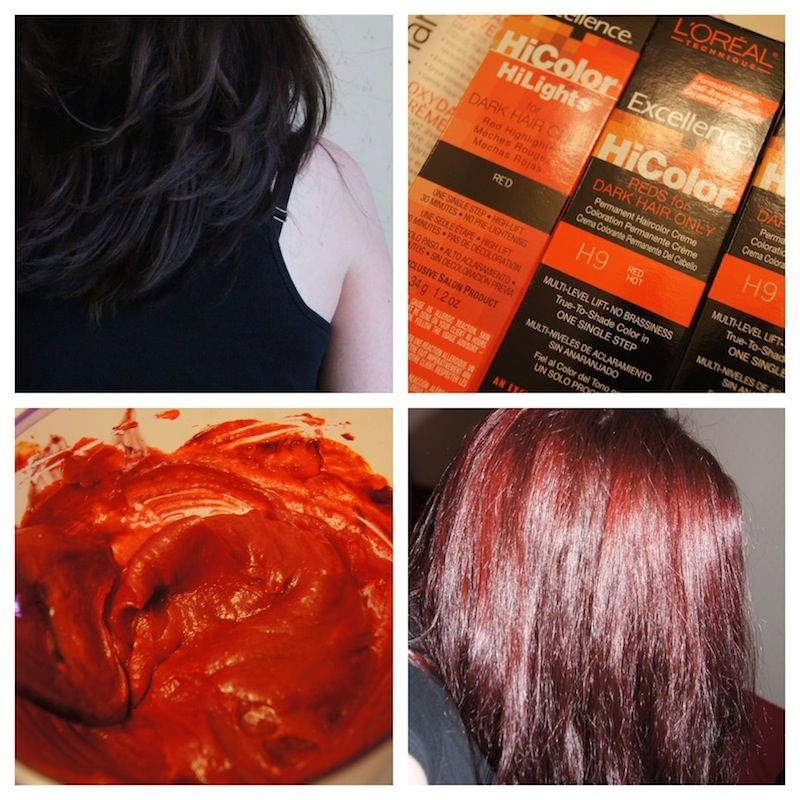 Loreal Hi Color H9 Redhot And Highlights Red Beauty Pinterest