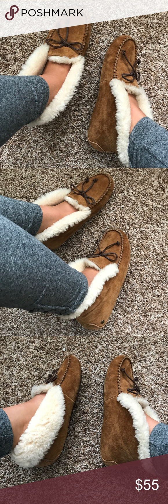 Ugg Moccasins With Foldable Fur Uggs Moccasins Uggs