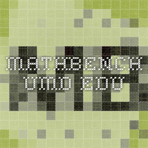 mathbench.umd.edu