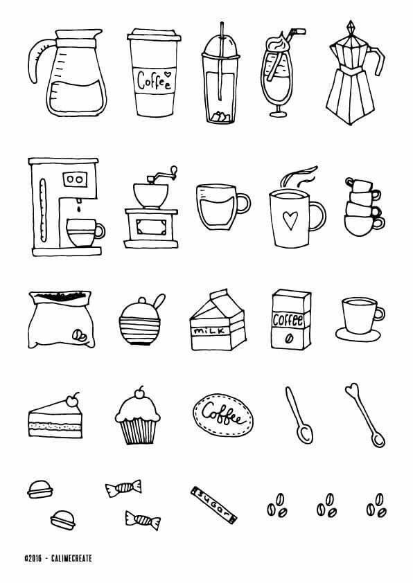 Coffee Icon Ideas Bujo Bulletjournal Bulletjournaling Hand